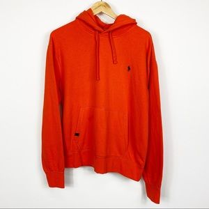 Polo Ralph Lauren Orange Hoodie Size Large